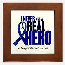 Never Knew A Hero 2 Blue (Sister) Framed Tile