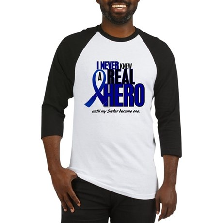 Never Knew A Hero 2 Blue (Sister) Baseball Jersey