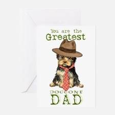 Yorkie Father's Day Greeting Card