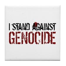 I Stand Against Genocide Tile Coaster