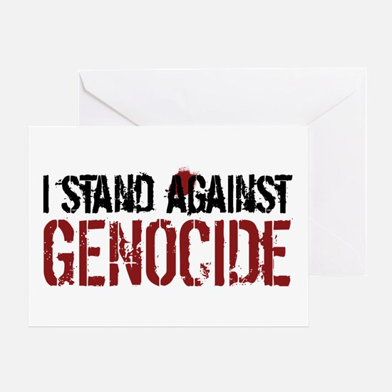 I Stand Against Genocide Greeting Card