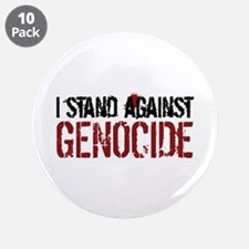 """I Stand Against Genocide 3.5"""" Button (10 pack"""