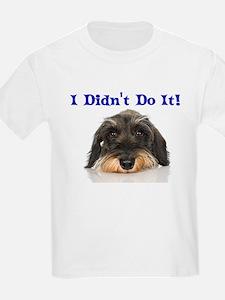 I Didn't Do It Schnauzer T-Shirt