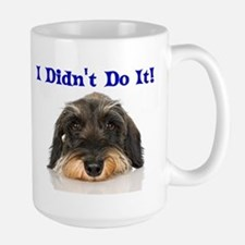 I Didn't Do It Schnauzer Large Mug