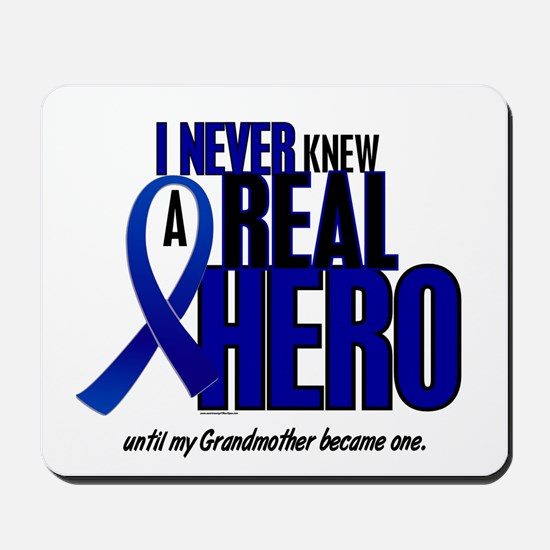 Never Knew A Hero 2 Blue (Grandmother) Mousepad