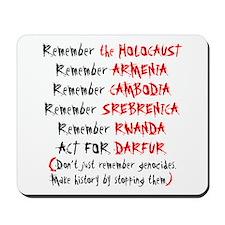 Activist, Anti-Genocide Mousepad