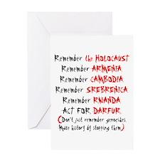 Activist, Anti-Genocide Greeting Card