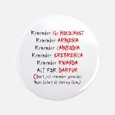 """Activist, Anti-Genocide 3.5"""" Button"""