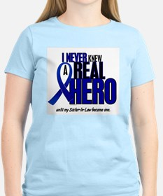 Never Knew A Hero 2 Blue (Sister-In-Law) T-Shirt