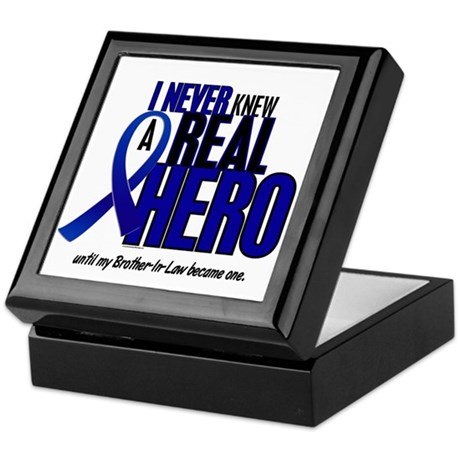 Never Knew A Hero 2 Blue (Brother-In-Law) Keepsake