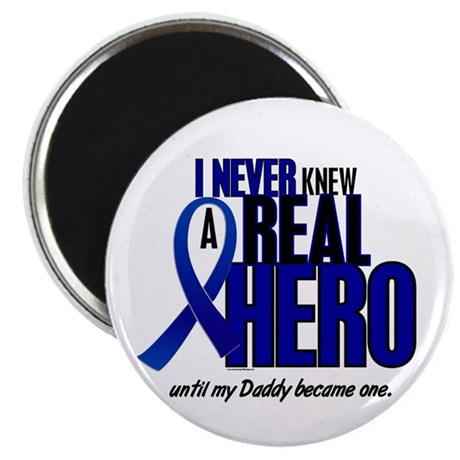 """Never Knew A Hero 2 Blue (Daddy) 2.25"""" Magnet (10"""