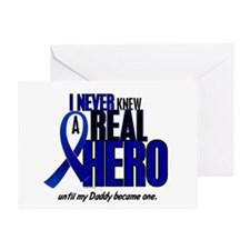 Never Knew A Hero 2 Blue (Daddy) Greeting Card