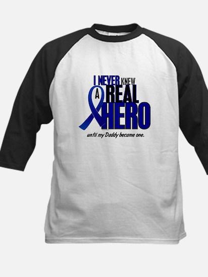 Never Knew A Hero 2 Blue (Daddy) Kids Baseball Jer
