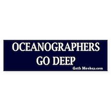 Oceanographers Bumper Bumper Sticker