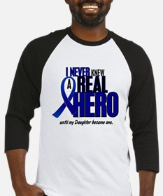 Never Knew A Hero 2 Blue (Daughter) Baseball Jerse