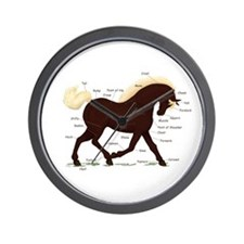 Rocky Mountain Horse Anatomy Wall Clock