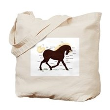 Rocky Mountain Horse Anatomy Tote Bag