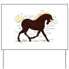 Rocky Mountain Horse Anatomy Yard Sign