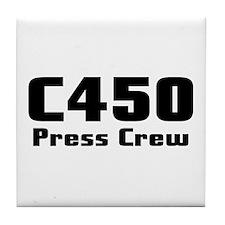Tile Coaster-C450 PRESS CREW-BLACK