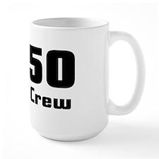 Large Mug-C450 PRESS CREW-BLACK