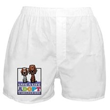 Adopt an Irish Setter Boxer Shorts