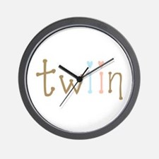 Twin Boy and Girl Twiin Wall Clock