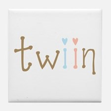 Twin Boy and Girl Twiin Tile Coaster