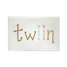 Twin Boy and Girl Twiin Rectangle Magnet