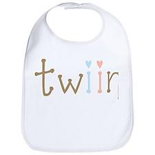 Twin Boy and Girl Twiin Bib