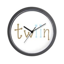 Twin Boys Twiin Wall Clock