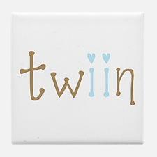 Twin Boys Twiin Tile Coaster