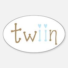 Twin Boys Twiin Oval Decal