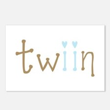 Twin Boys Twiin Postcards (Package of 8)