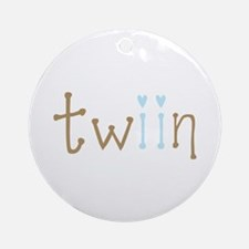 Twin Boys Twiin Ornament (Round)
