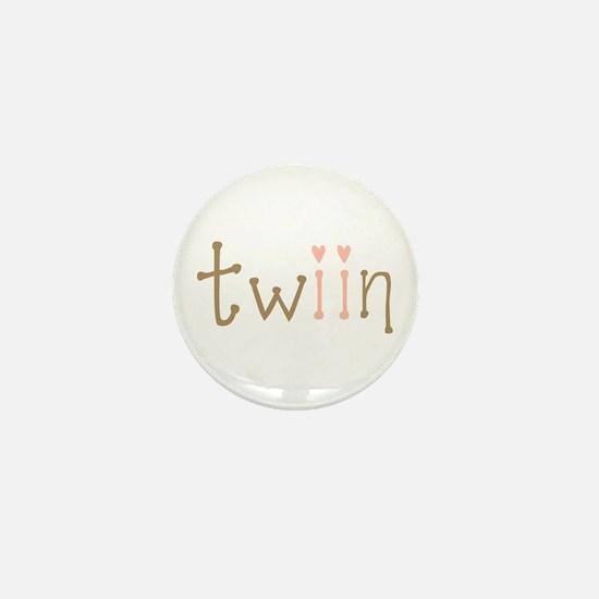 Twin Girls Twiin Mini Button