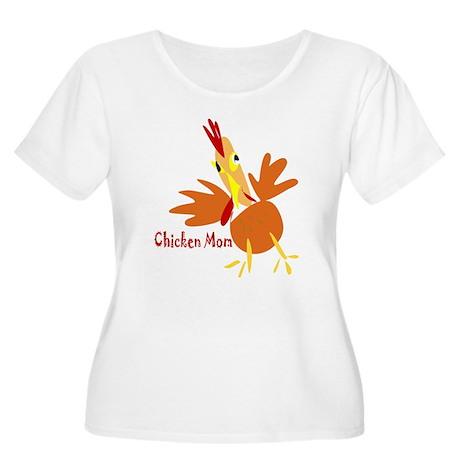 Chicken Mom Women's Plus Size Scoop Neck T-Shirt