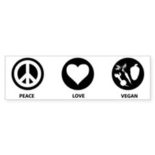 Peace Love Vegan Bumper Bumper Sticker
