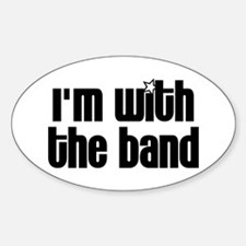 I'm With Band Sticker (Oval)