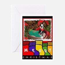 BOSTON DOGS CHRISTMAS Greeting Card