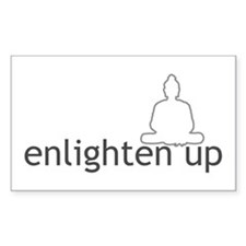 Enlighten Up With Buddha Rectangle Decal