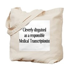 Med. Transcription Tote Bag