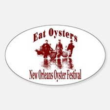 New Orleans Oyster Festival Oval Decal