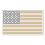 Us Flag Winter Rectangle Sticker 10 pk)