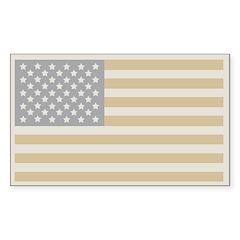 Us Flag Winter Rectangle Sticker 10 pk)
