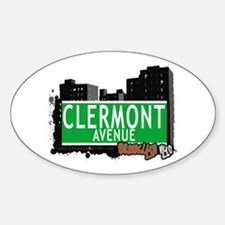 CLERMONT AVENUE, BROOKLYN, NYC Oval Decal