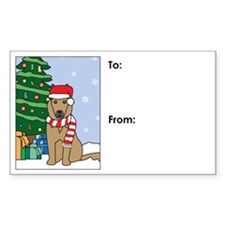 Belgian Tervuren Christmas Gift Tag Decal