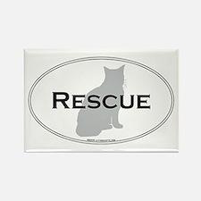 Rescue Cat Rectangle Magnet