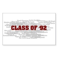 Class Of 92 Rectangle Decal