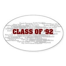 Class Of 92 Oval Decal