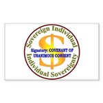 IS-CUC Rectangle Sticker 50 pk)